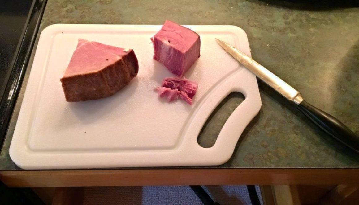 Cutting board ham
